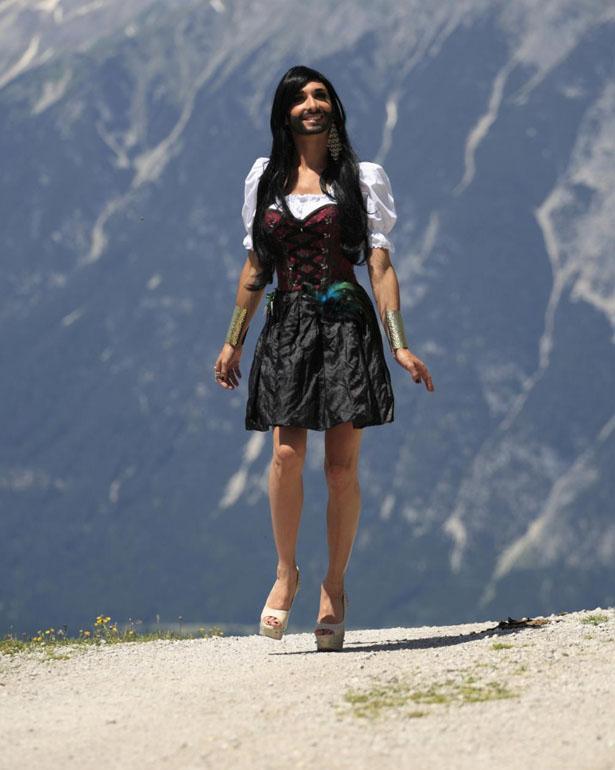 Conchita, travesti austríaca de raza.