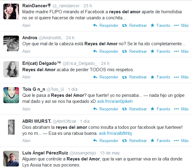Reyes criticada en twitter