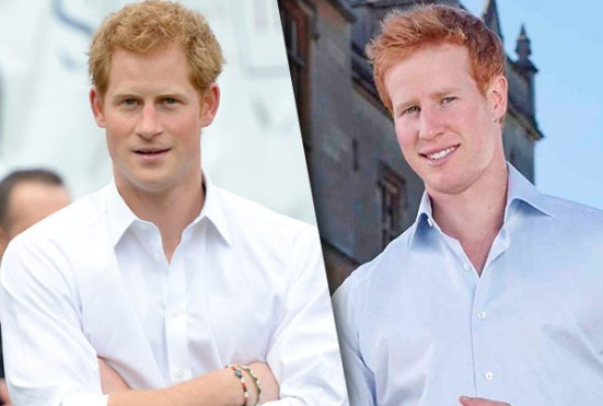 A la izquierda, el verdadero Harry. A la derecha, el impostor