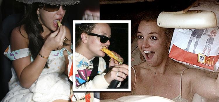 Britney Spears, no puede parar de ingerir grasas TRANS ni al volante. ¡BIEN POR ELLA!