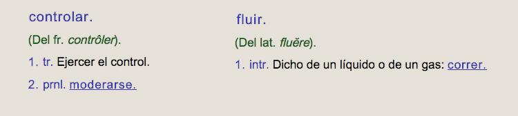 """¿Existían los verbos """"controlar"""" y """"fluir"""" en el diccionario de la RAE antes de que Nina usase hasta la extenuación la expresión """"controlando pero fluyendo""""? Francamente, lo dudamos."""