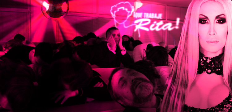 """DRAMATIZACIÓN: La Pelopony presenta su nuevo single en el """"Que trabaje rita"""" ante un público muy entregado..."""