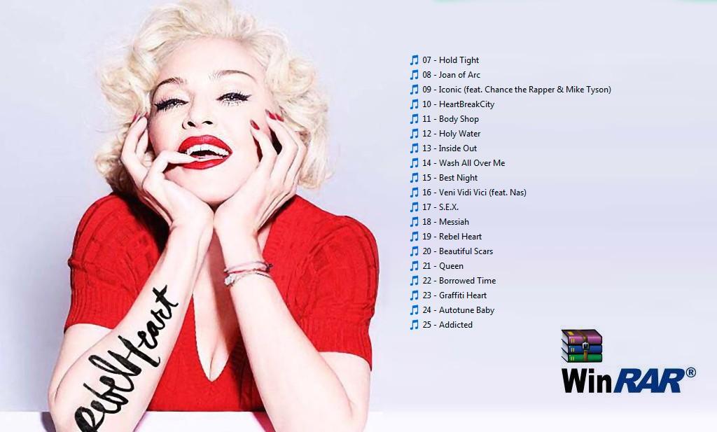 Madonna, Filtrada viva.